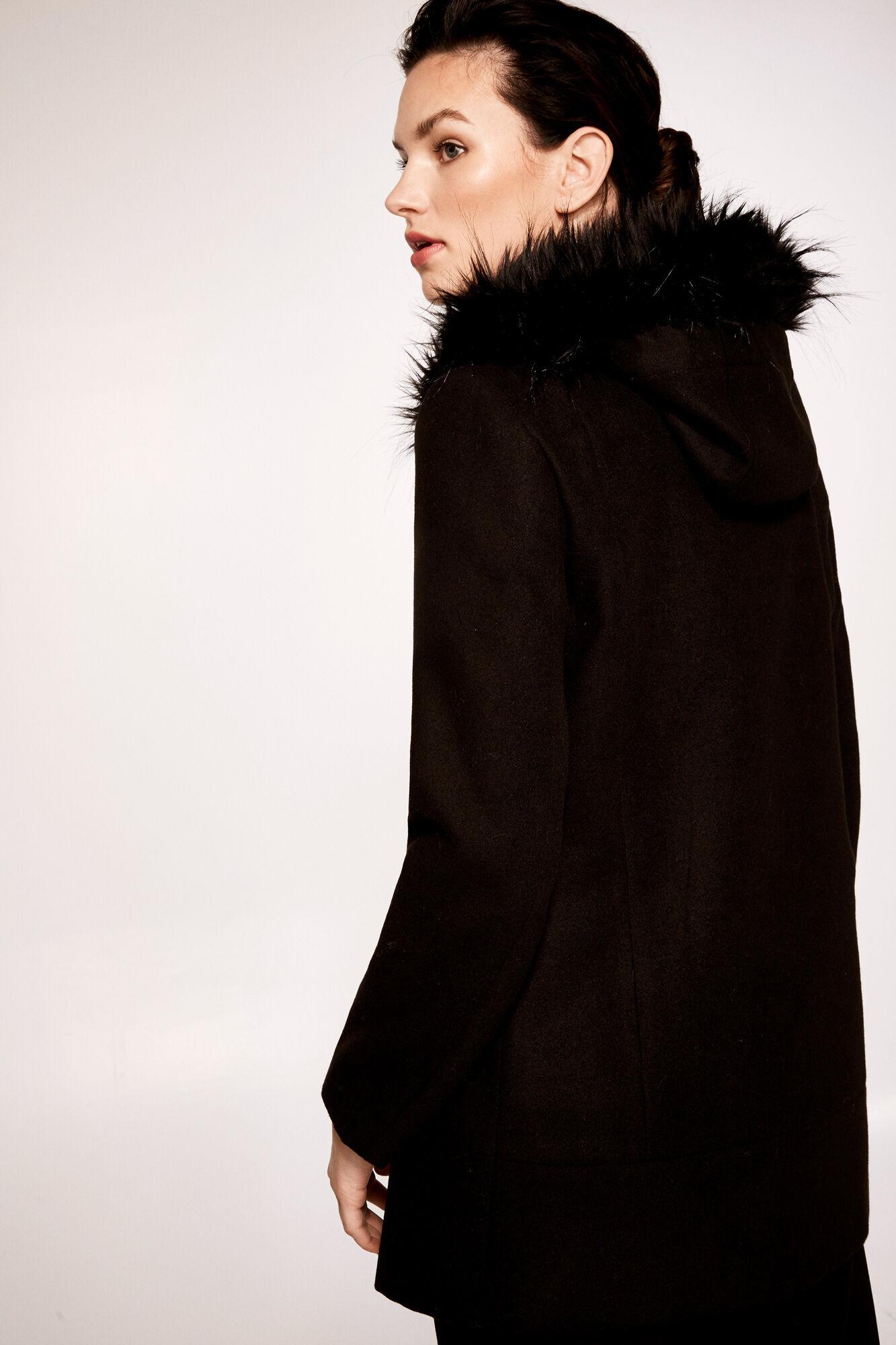 Duffle coat with fur hood | Coats and parkas | Cortefiel Man & Woman