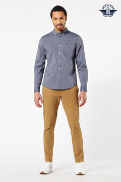 Cortefiel Printed Oxford Dockers® shirt with Supreme Flex™ Gray