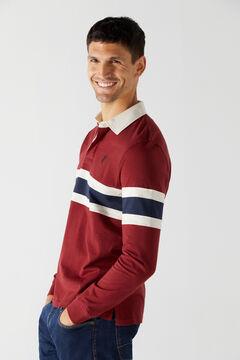 Cortefiel Long-sleeved polo shirt Fuchsia