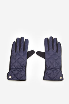 Cortefiel Padded glove with gold slash Navy