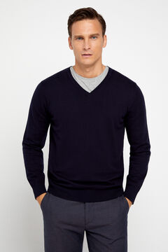 Cortefiel V-neck jumper Navy