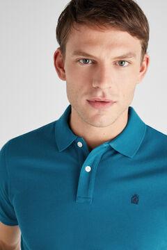 Cortefiel Essential short-sleeved polo shirt Blue