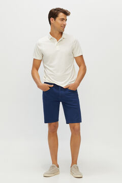 Cortefiel Denim Bermuda colour shorts 5 pockets Navy