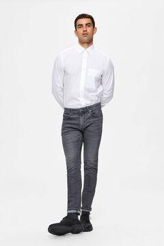 Cortefiel Slim organic jeans Gray