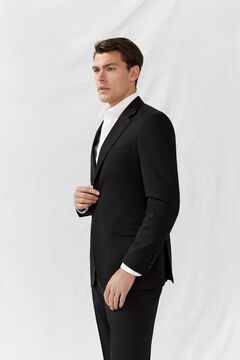 Cortefiel Black slim fit blazer Black