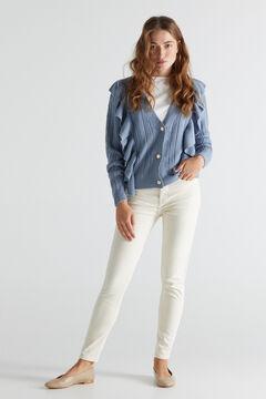 Cortefiel Sculpt fit jeans Ecru