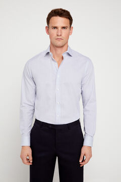 Cortefiel Tailored printed dress shirt Blue