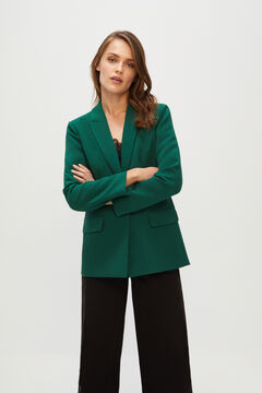 Cortefiel Slim fit blazer Green