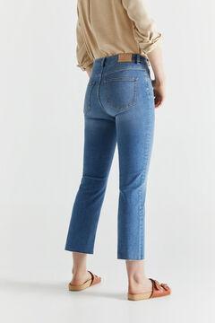 Cortefiel Cropped bell-bottom jeans Bluejeans