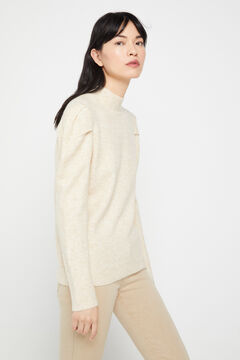 Cortefiel Soft collection jumper Ecru