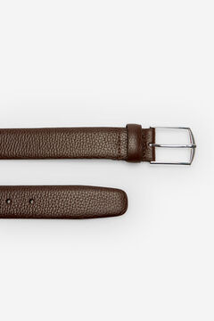Cortefiel Cinturón piel grabada Marrón