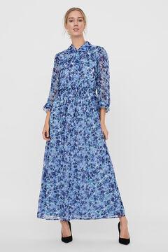 Cortefiel Vestido largo estampado Azul