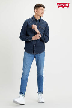 Cortefiel Western denim Levi's® shirt with chest pockets Navy