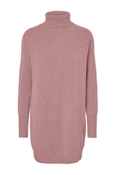 Cortefiel Jersey-knit dress Pink