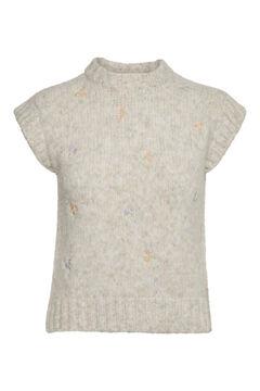 Cortefiel Knit gilet Stone