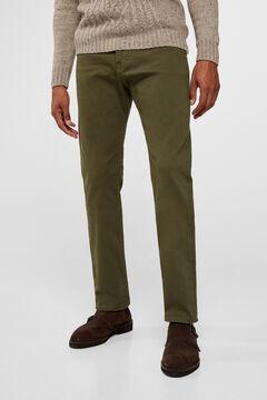 Cortefiel Regular fit coloured jeans Kaki