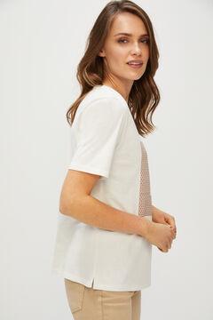 Cortefiel Printed T-shirt White