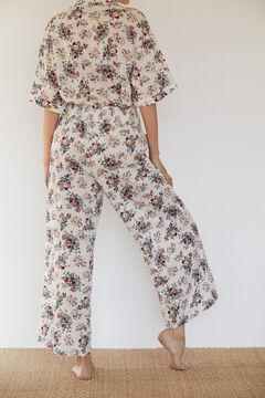 Cortefiel Printed shorts Ecru