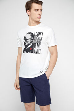 Cortefiel The Godfather short-sleeved t-shirt White