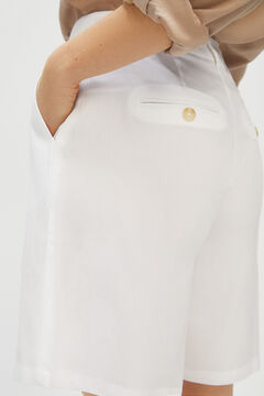 Cortefiel Bermuda shorts White