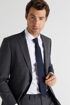 Cortefiel Checked tailored fit blazer Gray
