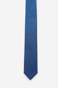 Cortefiel Micro textured tie Turquoise