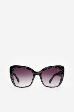 Cortefiel  Gafas de sol Shiny con glitter Starlite Black