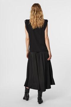 Cortefiel T-shirt with cutaway sleeves Black