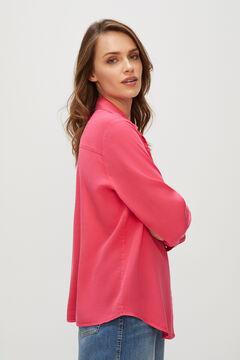 Cortefiel Camisa cargo 100% lyocell Rojo