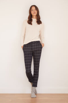 Cortefiel Jersey-knit trousers Blue