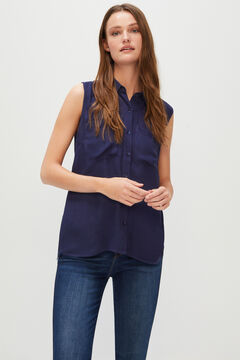 Cortefiel Sleeveless shirt Turquoise