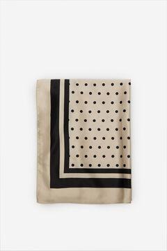 Cortefiel Silky polka-dot scarf White