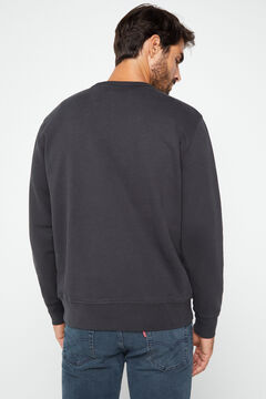 Cortefiel Fleece Levi's® round neck sweatshirt Gray