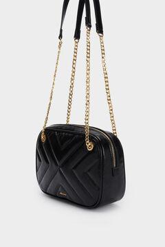 Cortefiel Quilted crossbody bag  Black
