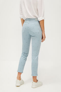 Cortefiel Embroidered jeans Blue jeans