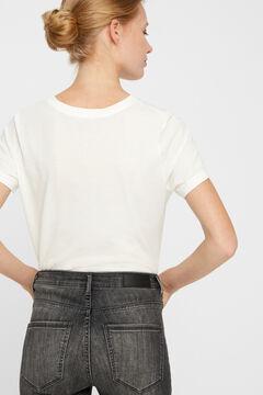 Cortefiel High rise cigarette fit jeans Gray