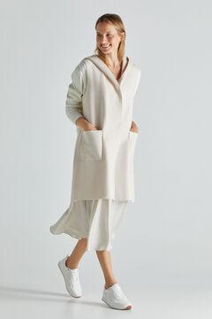 Cortefiel Lightweight hooded vest Ecru