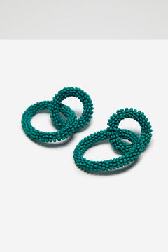 Cortefiel Beaded link earrings Green