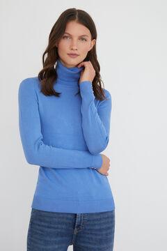Cortefiel Jersey cuello vuelto Azul