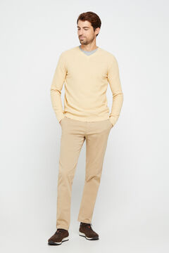 Cortefiel Essential regular fit lightweight chinos Camel