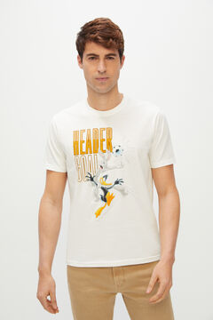 Cortefiel Looney Tunes short-sleeved t-shirt White