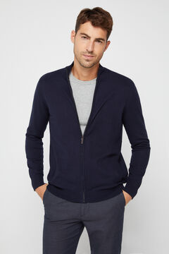 Cortefiel Zip up cardigan Navy