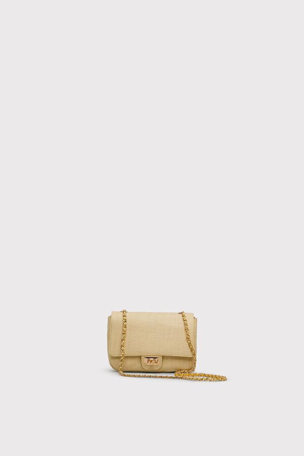 0c0140152a Cortefiel Raffia bag with interwoven handle Multicolor