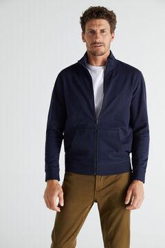 Cortefiel Zipped sweatshirt Turquoise