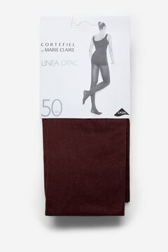 Cortefiel Opac 50D Tights Bordeaux