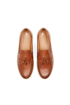 Cortefiel Rubber sole loafer Camel