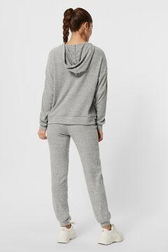 Cortefiel Ribbed sweatshirt Gray