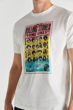Cortefiel Short-sleeved Rolling Stones T-shirt Ecru