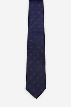 Cortefiel Checked jacquard tie Red