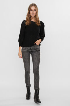 Cortefiel Jersey-knit jumper Black